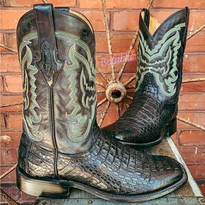 RESISTOL RANCH BY LUCCHESE Crocodile Caiman Boots